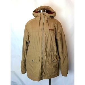 Columbia Mens Brown Hooded Hardy Road Jacket Coat